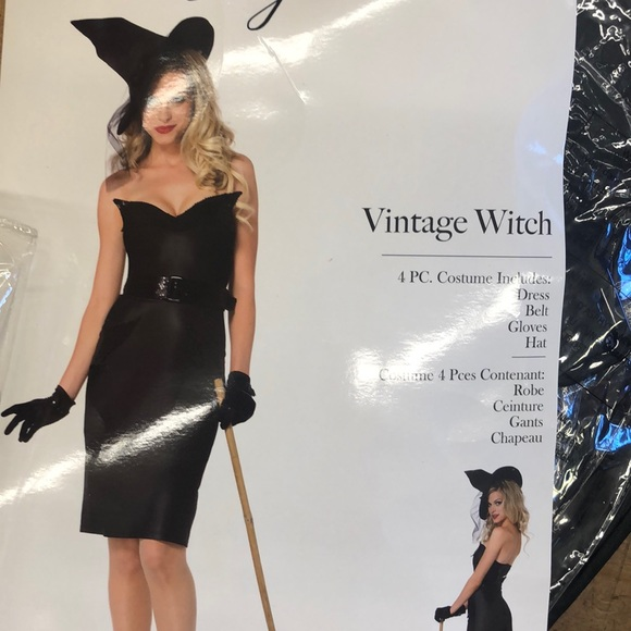 Leg Ave Vintage Witch - 4PC Costume